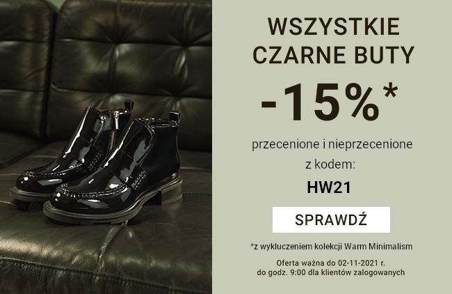 Czarne buty -15% - tylko dla zalogowanych