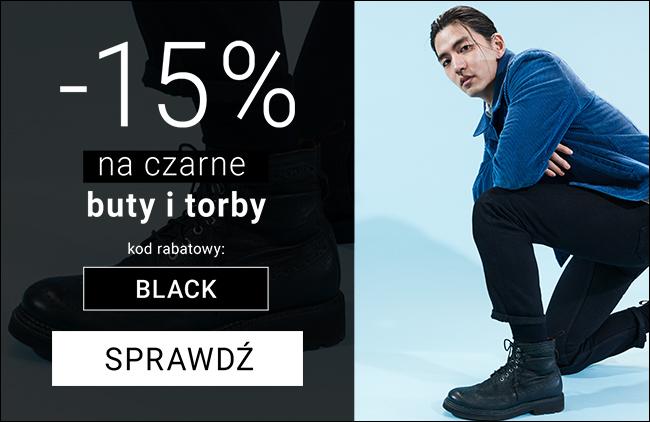 -15% na buty, torebki i torby - meski